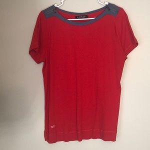 Lauren Ralph Lauren Red Zipper Shirt